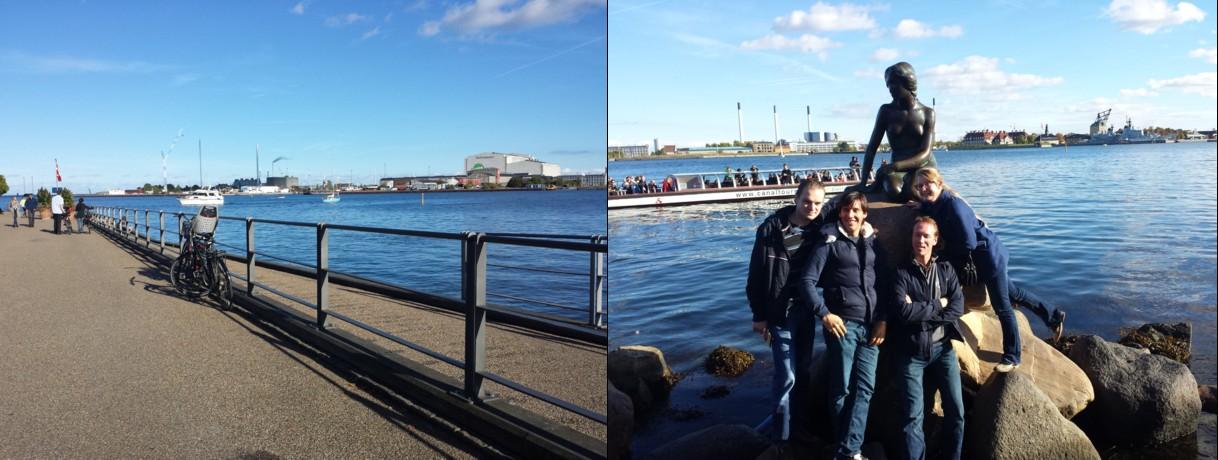 Harbor, Mermaid, Tourists slide