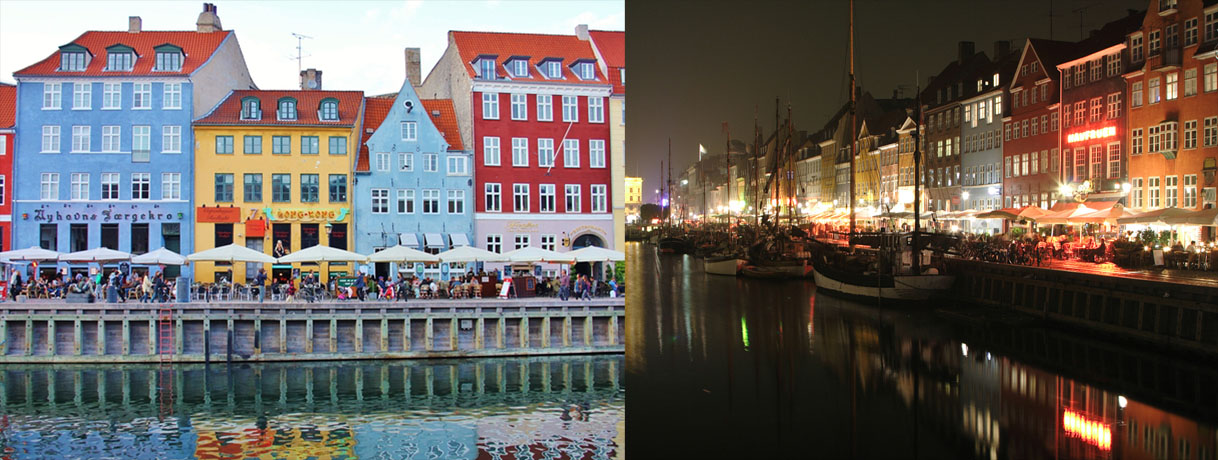 Nyhavn day and night page slide