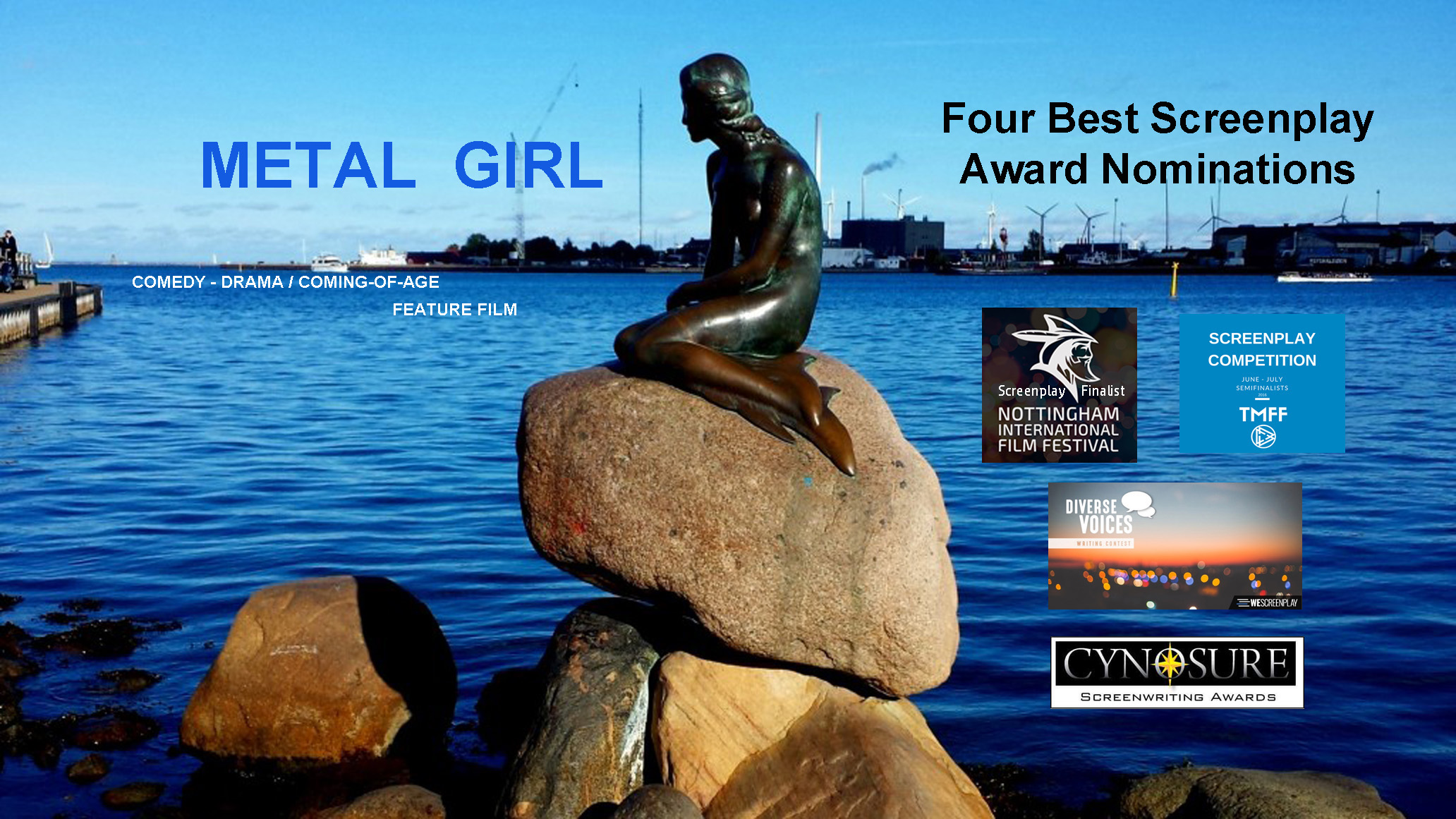 Metal Girl - 4 Screenplay Award Nominations
